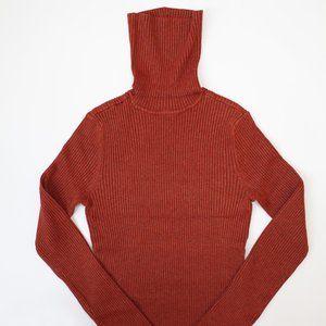 Red Clay Rib Turtleneck